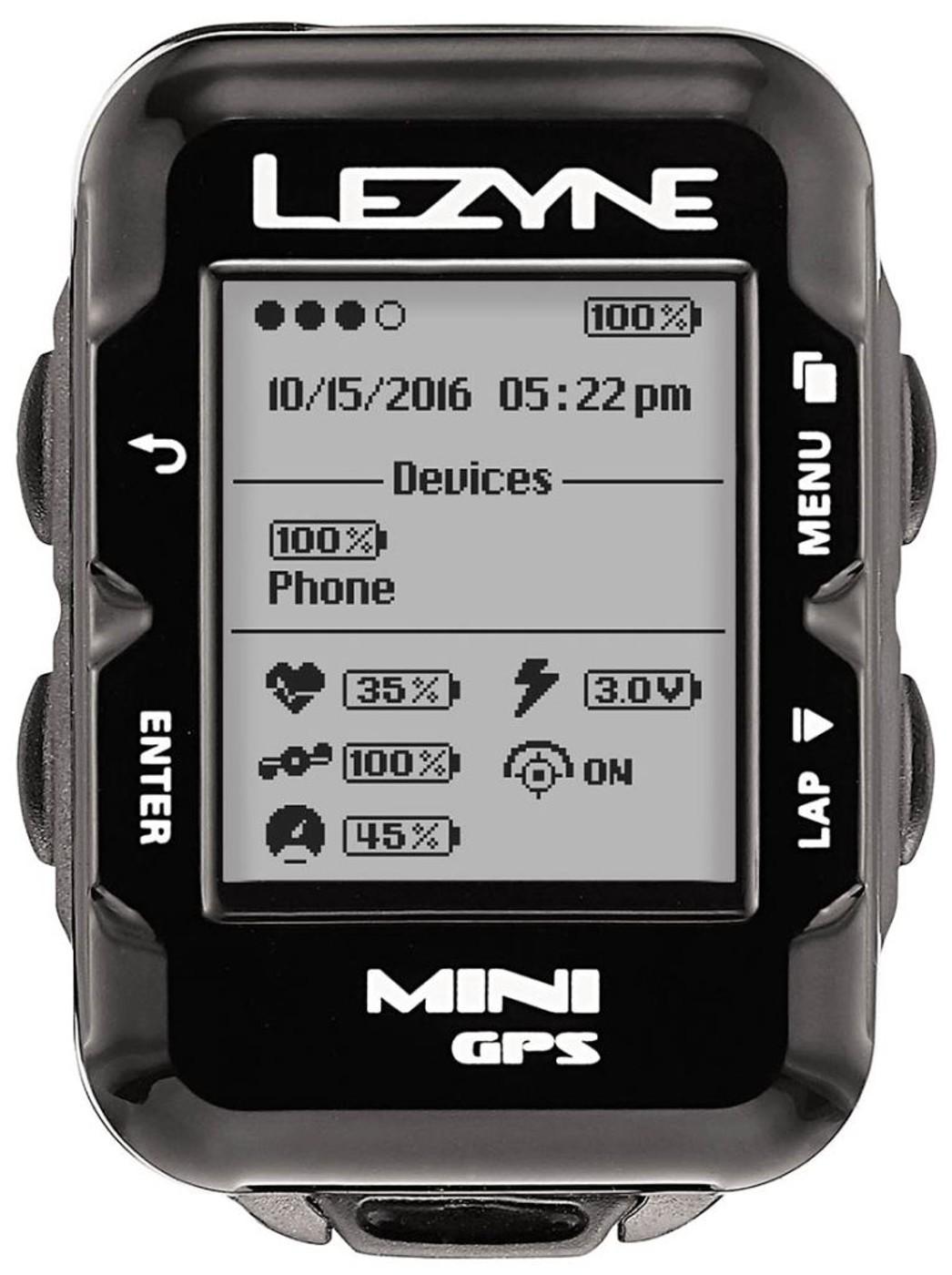 LEZYNE Radcomputer MINI GPS HRSC schwarz
