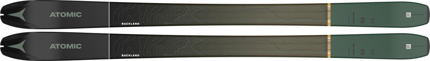 ATOMIC BACKLAND 95 + SKIN 95 Black/Green