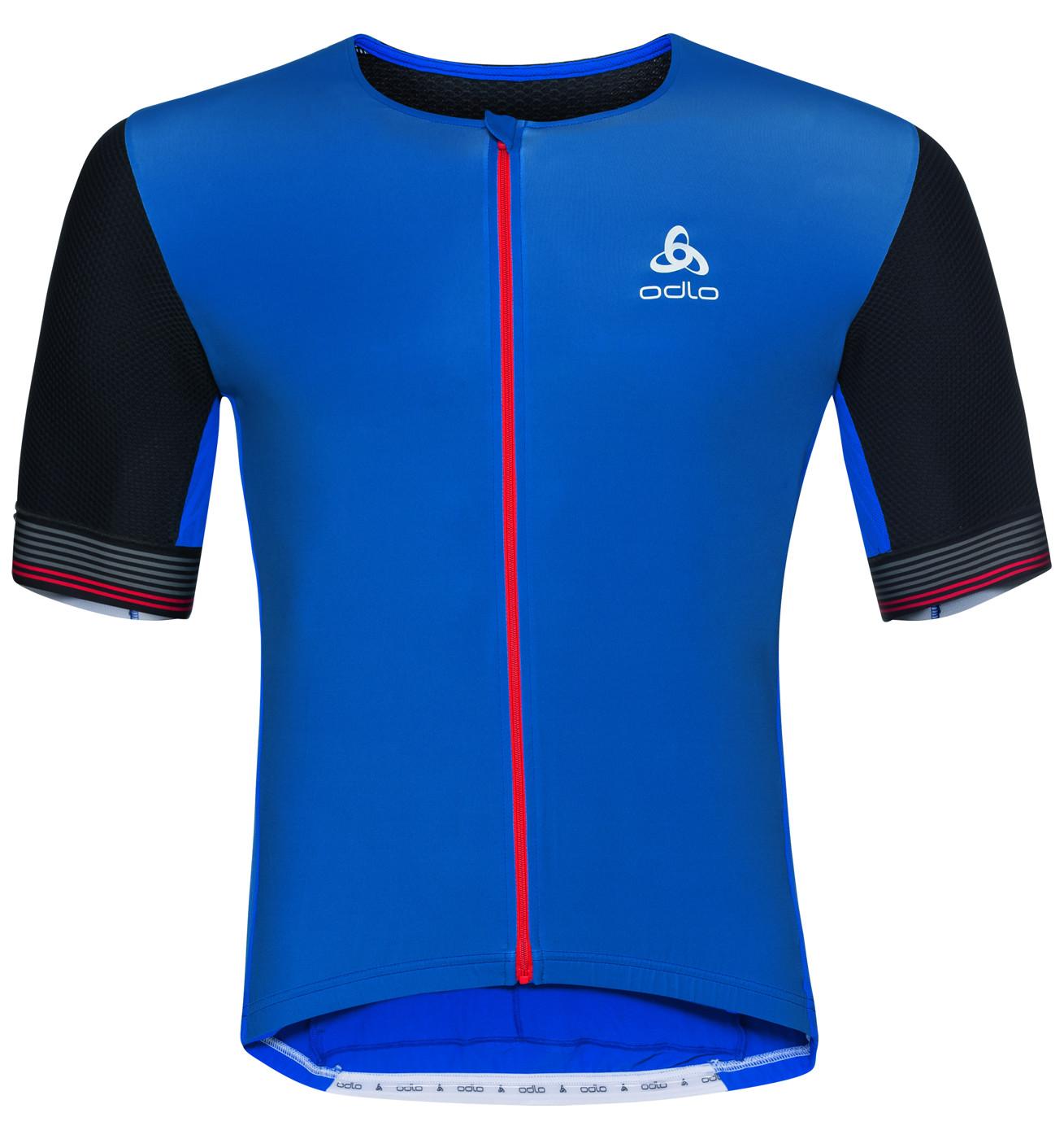 ODLO Shirt s/s full zip CERAMICOOL - Herren