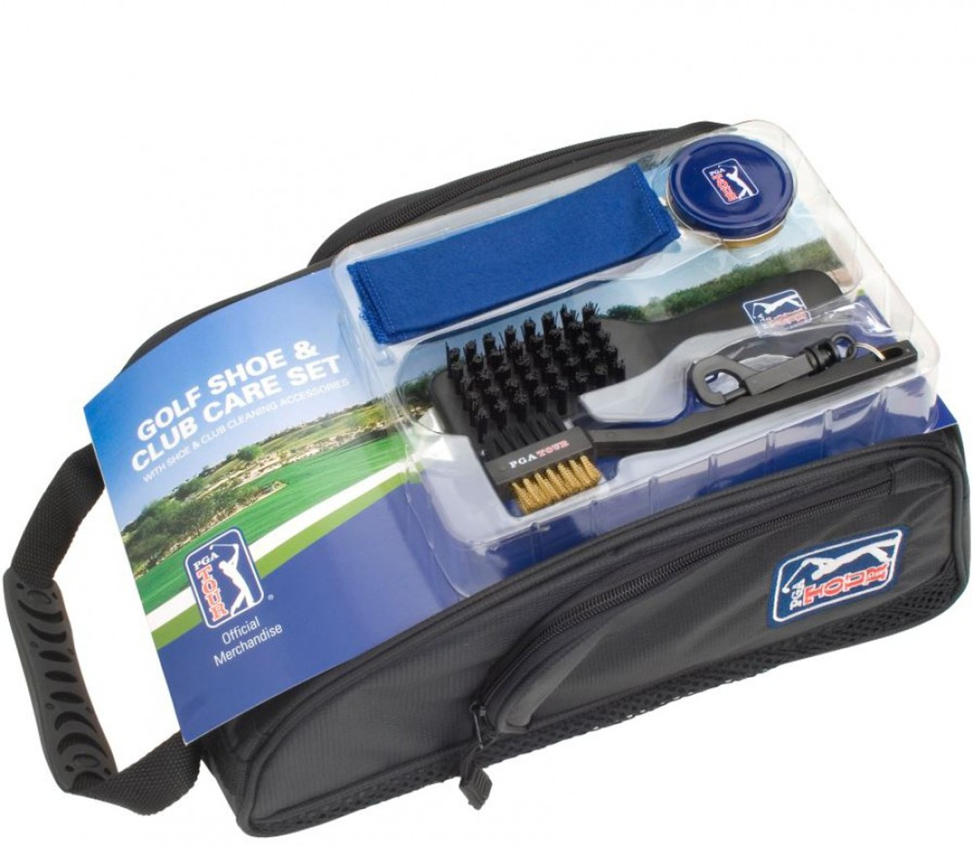 PGA TOUR Golf Shoe Bag and Clu