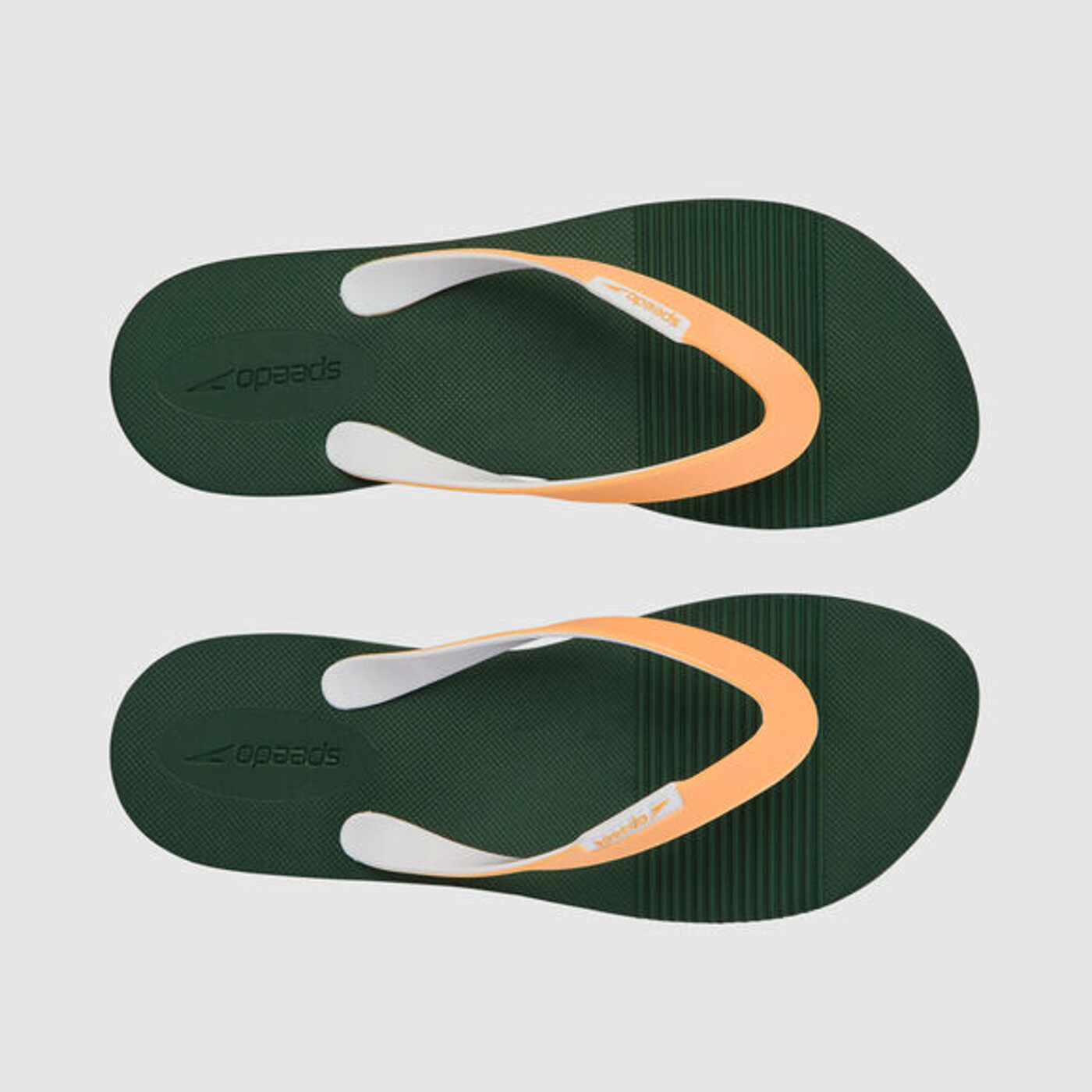 SPEEDO Saturate II Mens Flip Flops GREEN/ORG - Herren